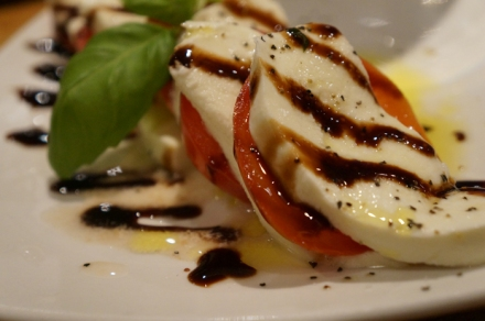 caprese salad closeup