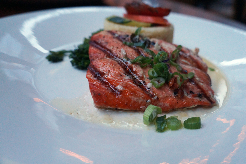 lemon butter saLMON closeup