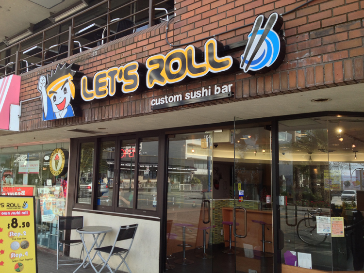 Foodie Visit: Let's Roll Custom Sushi Bar
